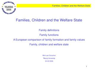 Families, Children and the Welfare State