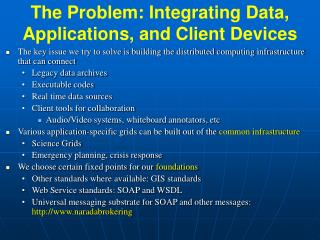 The Problem: Integrating Data, Applications, and Client Devices