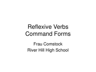 Reflexive Verbs Command Forms
