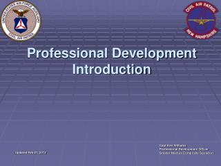 Professional Development Introduction