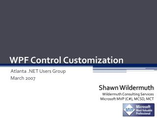 WPF Control Customization