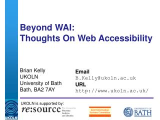 Beyond WAI: Thoughts On Web Accessibility