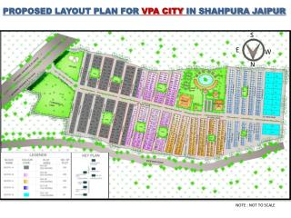 PROPOSED LAYOUT PLAN FOR  VPA CITY  IN SHAHPURA JAIPUR