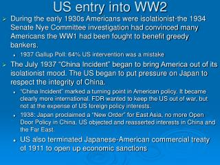 US entry into WW2