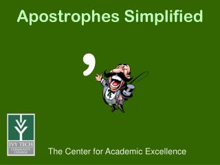 Apostrophes Simplified