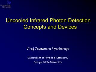 Uncooled Infrared Photon Detection Concepts and Devices