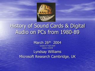 History of Sound Cards & Digital Audio on PCs from 1980-89