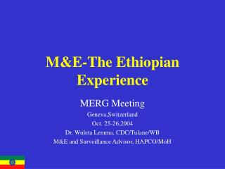 M&E-The Ethiopian Experience