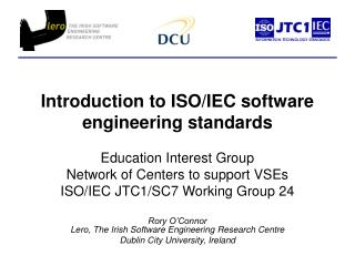 Introduction to ISO/IEC software engineering standards