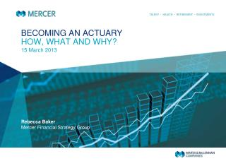 BECOMING AN ACTUARY HOW, WHAT AND WHY?
