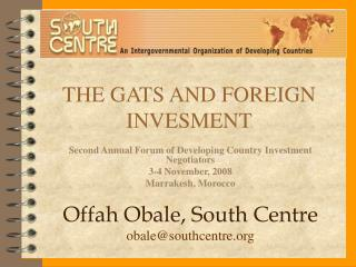 THE GATS AND FOREIGN INVESMENT