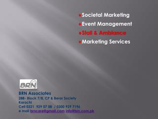 Societal Marketing  Event  Management Stall & Ambiance  Marketing  Services
