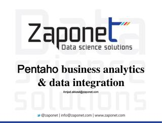 Pentaho  business analytics & data  integration Amjad.akkawi@zaponet