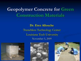 Geopolymer Concrete for  Green Construction Materials