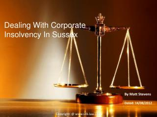 Dealing With Corporate Insolvency In Sussex