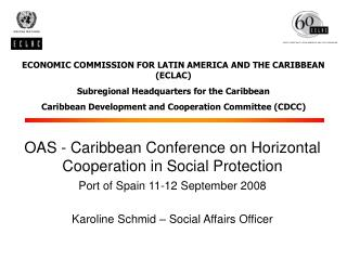 ECONOMIC COMMISSION FOR LATIN AMERICA AND THE CARIBBEAN (ECLAC)