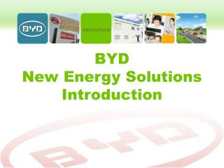BYD  New Energy Solutions Introduction