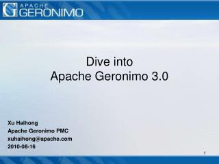 Dive into  Apache Geronimo 3.0