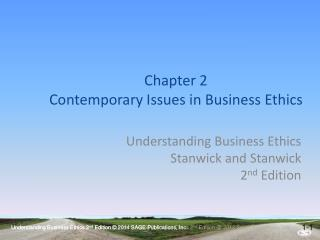 Chapter  2 Contemporary Issues in Business Ethics