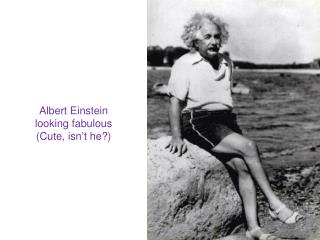 Albert Einstein looking fabulous (Cute, isn't he?)