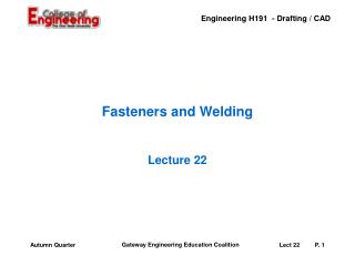 Fasteners and Welding