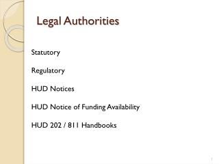 Legal  Authorities