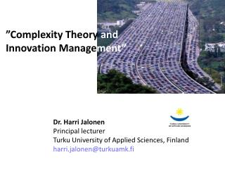 """ Complexity Theory and  Innovation  Manage ment"""