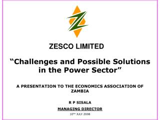 """Challenges and Possible Solutions in the Power Sector"""