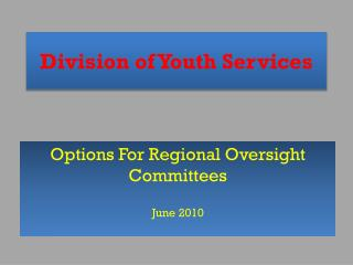 Division of Youth Services