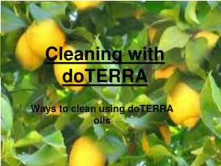 Cleaning with doTERRA
