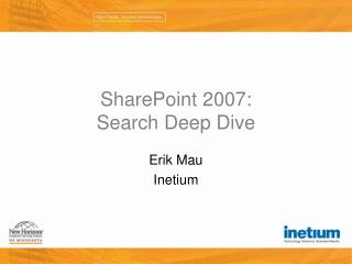 SharePoint 2007: Search Deep Dive