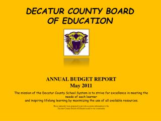 DECATUR COUNTY BOARD  OF EDUCATION