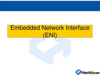 Embedded Network Interface (ENI)