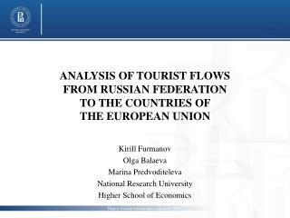 ANALYSIS OF TOURIST FLOWS FROM RUSSIAN FEDERATION TO THE COUNTRIES OF  THE EUROPEAN UNION