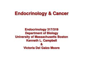 Endocrinology & Cancer