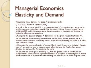 Managerial Economics  Elasticity and Demand