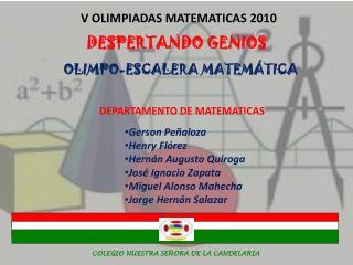 DEPARTAMENTO DE MATEMATICAS