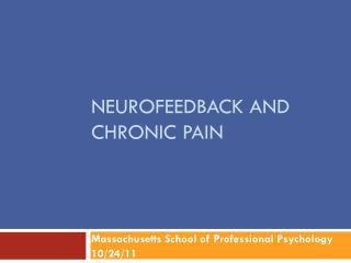 NEUROFEEDBACK AND CHRONIC PAIN