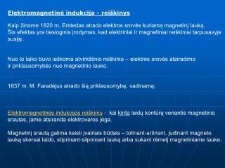 Elektromagnetinė indukcija - reiškinys