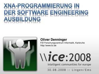 XNA-Programmierung in der Software Engineering Ausbildung