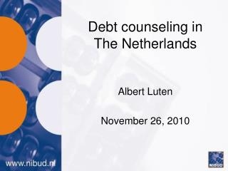 Debt counseling in The Netherlands