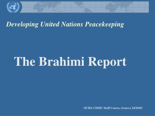 Developing United Nations Peacekeeping