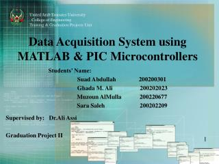 Data Acquisition System using MATLAB & PIC Microcontrollers