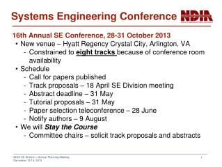Systems Engineering Conference