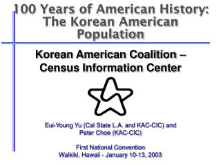 100 Years of American History: The Korean American Population