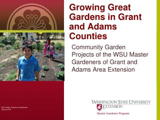 Growing Great Gardens in Grant and Adams Counties