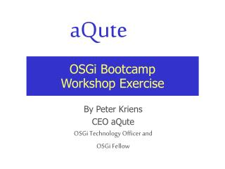 OSGi Bootcamp Workshop Exercise