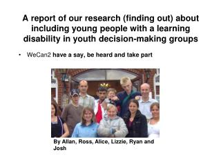 A report of our research (finding out) about including young people with a learning disability in youth decision-making