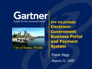 RFP #61070600 Electronic Government Business Portal and Payment System