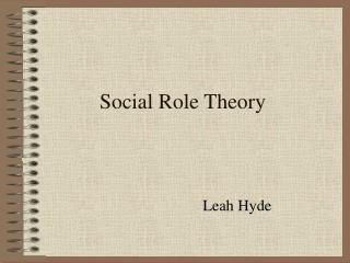 Social Role Theory